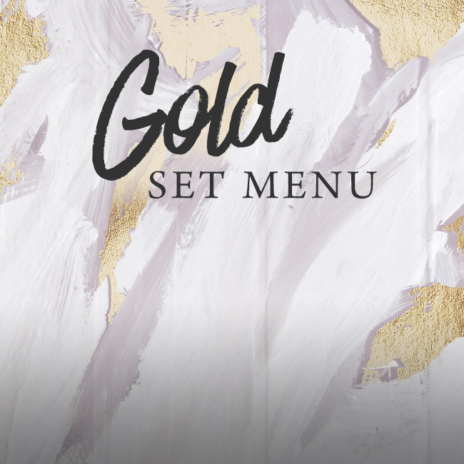 Gold set menu at The Salisbury Arms