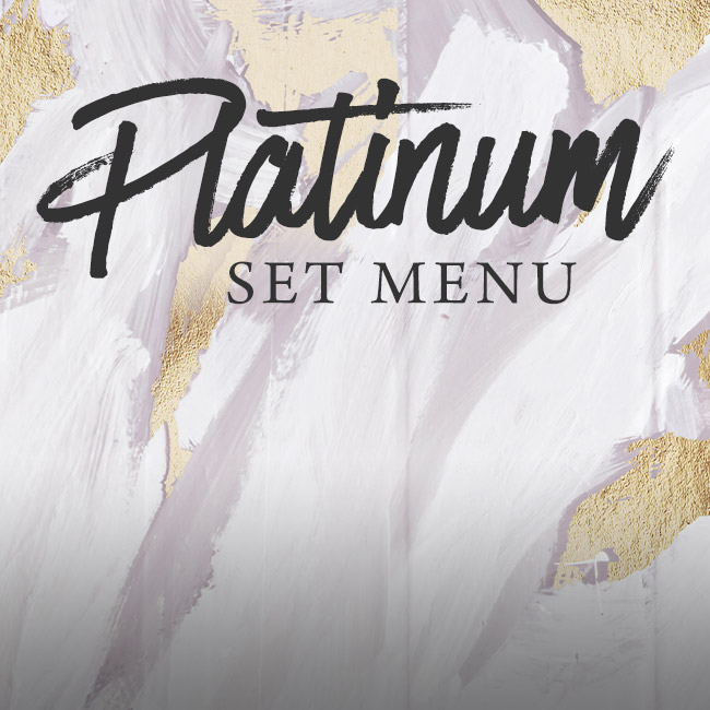 Platinum set menu at The Salisbury Arms